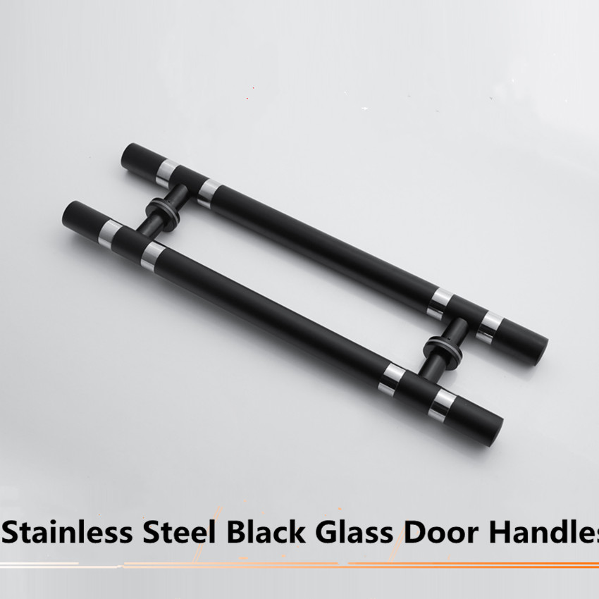 38*600mm stainless steel glass door handles black hotel KTV home office door pulls handles<br>