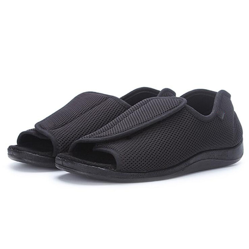 Spring/summer Diabetic shoes foot wide old mans foot deformation middle-aged shoes  foot puffy external deformation nursing clo<br>