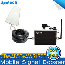 Hot Sell USA/Brazil/Canada/Mexico CDMA 850mhz 4G AWS 1700Mhz Cell Phone Signal Repeater Amplifier, GSM Singal Booster for Mobile