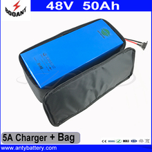 Electric Bike Battery 48V 50AH Lithium ion Battery 48V 2500W For Bafang eBike Motor With 5A Charger And Battery Bag EU Duty Free