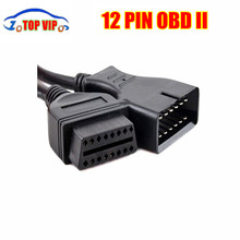 Super discount 100 pcs/lot G-/ - M 12 PIN To 16 PIN OBD2 Adapter 12PIN OBD2 Diagnostic Cable Connector For Vehicle DHL Free