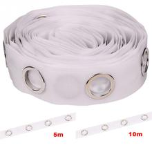 curtain accessories most popular polyester transparent eyelet curtain tape 8 holes/M contains the curtain rings 5M/10M
