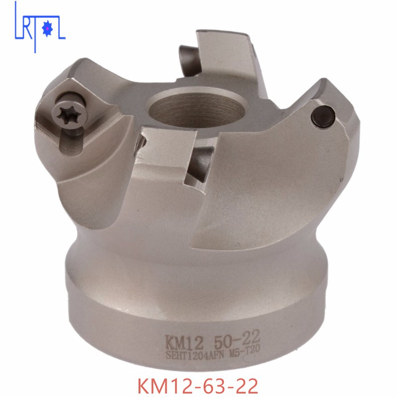 4flute KM12-63-22 45 Degree Shoulder Mill Cutter Head for SEHT1204<br>