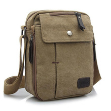 Charm canvas bags 2015 men's travel bag canvas men messenger bag brand mini size men's bag luxary vintage style briefcase w304