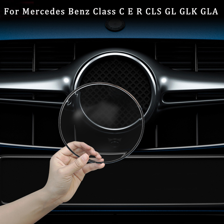 AMG Mercedes Benz Emblem Red Front Grille Badge for A C E S CLA CLS G A45 E63