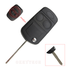 2 Buttons Remote Key Shell Case For Land Rover Freelander MK1 TD4 TD5 Range Rover Defender 1995 Modified Flip Car Key Case Fob