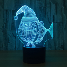 Strange Fish 3d Speaker Lamp Novelty Tractor Bluetooth Speaker Usb Music Night Light Bedside Lampara With Color Changeable Gift