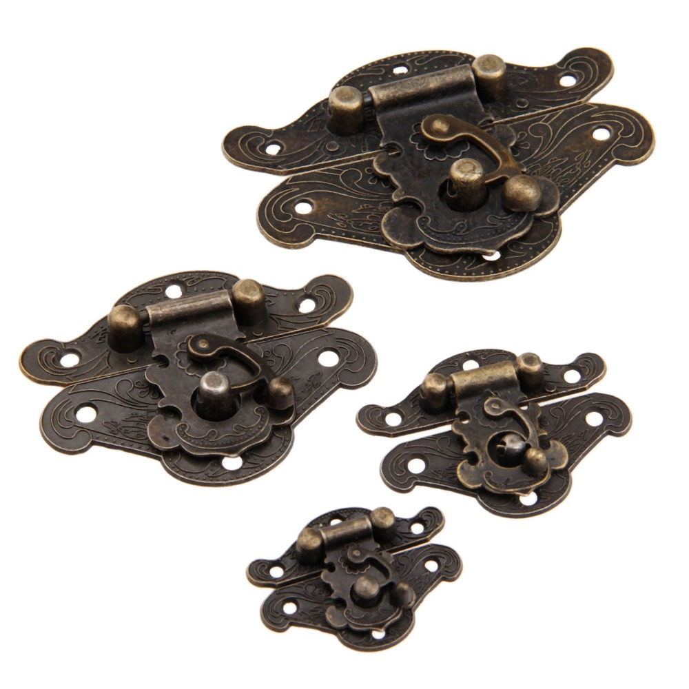 Craetive Antique Buckle Alloy Box Buckle Wooden Box Lock Craft With Screws