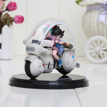 8cm Dragon Ball Z Son Goku Bulma Motorcycle PVC Action Figure Collectible Model Toy(China)