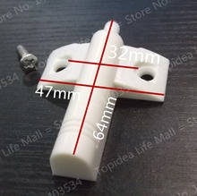 5pcs White Color Cabinet Cupboard Kitchen Door Damper Buffer Soft Closer Cushion Close(China)