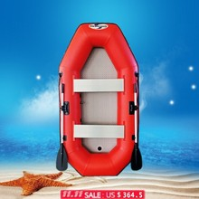 Hot fishing boats sales!!!Wholesale red inflatable dinghy/high quality pvc fishing boats(China)