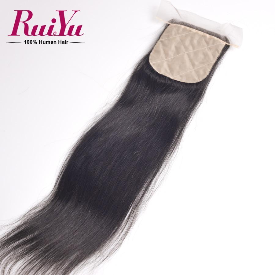 RuiYu Hair Peruvian Silk Base Closure 4*4Best Quality Cheap Free Par Natural Color Silk Base Top Closure<br><br>Aliexpress