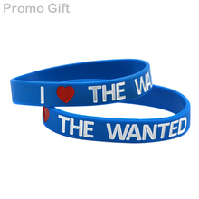 Promo Gift 1PC Band Bracelet I Love The Wanted Silicone Wristband(China)