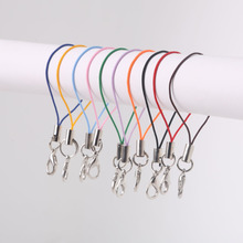 10pc/lot Lobster Clasp Lanyard Strap Cord Cell Phone Lariat Mobile Straps Charm Nylon Key Ring Chain Lot Jewelry Craft Diy