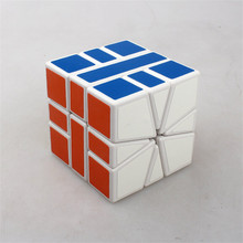 2016 Fast Delivery Brand Shengshou Square One SQ1 Skew Magic Cube New Plastic Cubes Puzzle Education Toys Gift With PVC Stickers(China)