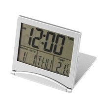1pcs Calendar Alarm Clock Display date time temperature flexible mini Desk Digital LCD Thermometer cover Hot Search P5