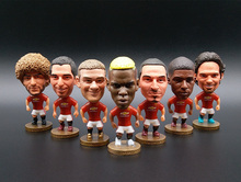 Soccerwe England Soccer Stars Lovely Action Figures Toys Fans Collection Football Dolls Gift Rooney Pogba Ibrahimovic Beckham(China)