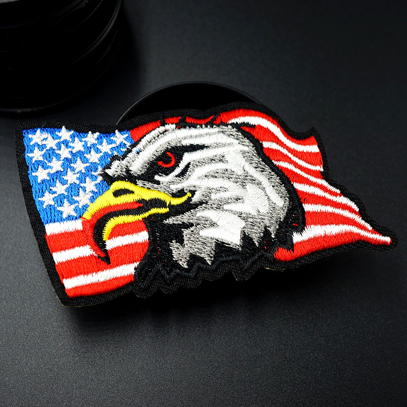 Eagle Birds Animal Logo Patch Embroidered Sew Iron On Patches Badge Bags Hat Jeans Shoes T-Shirt Applique