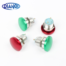 16mm Metal Aluminum Switch Push Button Mushroom Emergency Stop Push Button Waterproof Switch momentary 1NO 16MG/L.F.C(China)