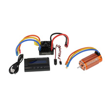 4076 2000KV Sensorless Brushless Motor+120A Brushless ESC with 6V/3A Switch Mode BEC+LCD Programming Card Combo for 1/8 RC Car(China)