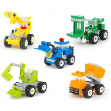 5 types Diecast mini Forklift Excavating car Dump truck Dozer crane Model Classic Toy Mini gift for boy -wd