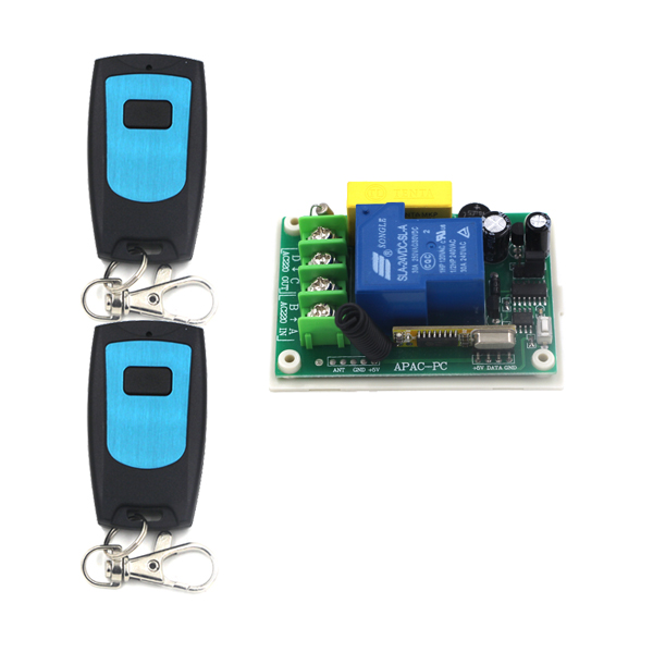 AC 220V 1 Channel Smart Wireless Remote Control Switch Self-locking Blue Waterproof Transmitter SKU: 5327<br><br>Aliexpress