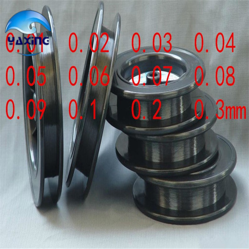 high purity Tungsten filament wire  used for electrode or experiment diameter 0.01mm x10000m long <br>