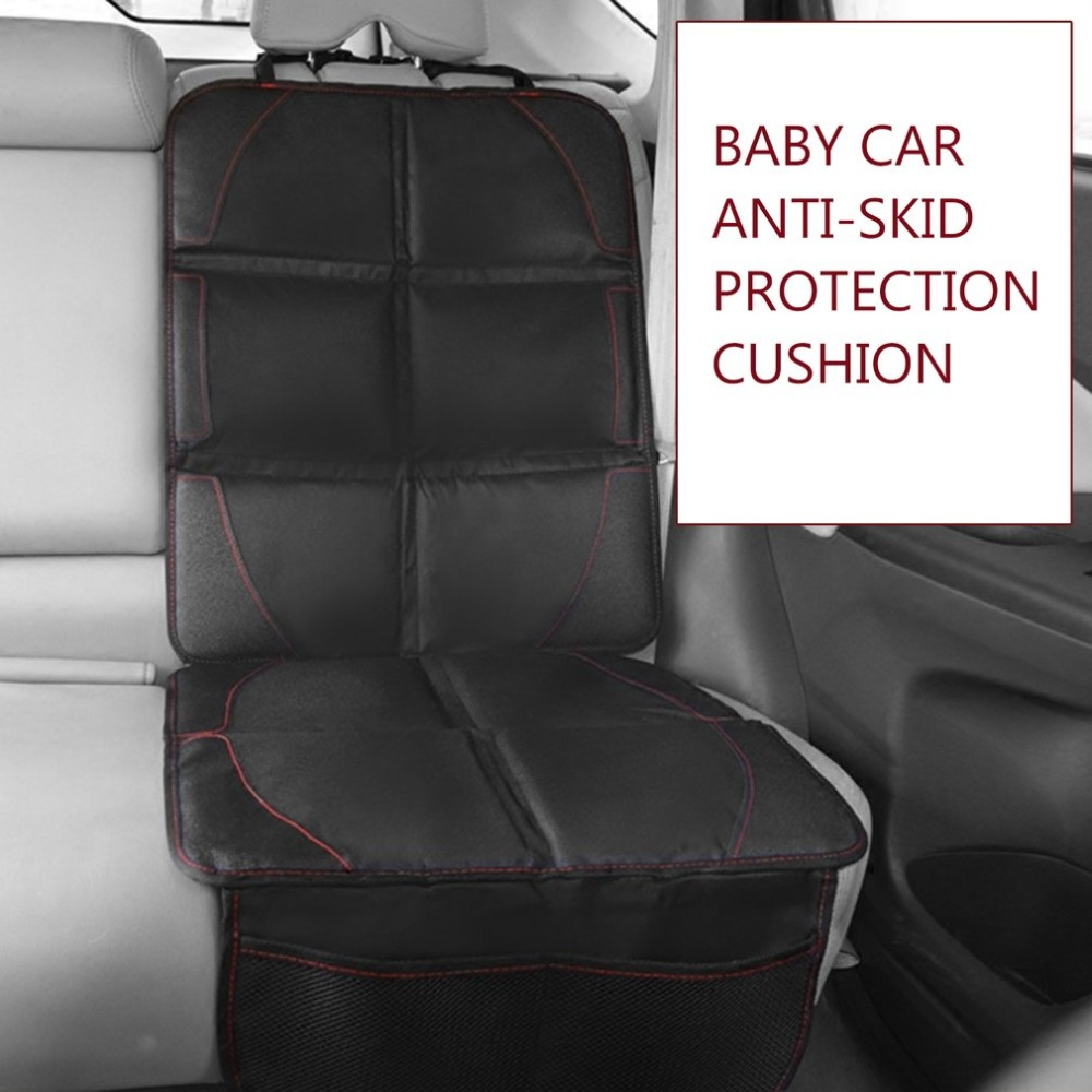 Baby Kids Leather Anti Slip Car Seat Cover Lattice Cushion Seat Cover Pad Mat Car Chair Accessories For Children