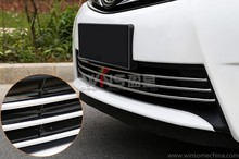 For Toyota Corolla 2013-2016 Chrome Front Grill Trim Down 3PCS Stainless Steel/ABS Car Styling Tuning Accessories