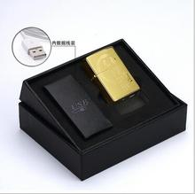 Electronic cigarette lighter USB double arc cross fire lighter rechargeable lighter wind originality