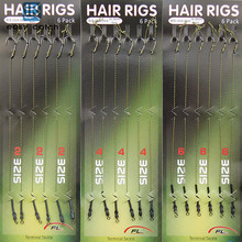 Easy Catch 18pcs Carp Fishing Hair Rigs Braided Thread 8340 Hooks Swivel Boilies Carp Rigs Carp Fishing Accessories