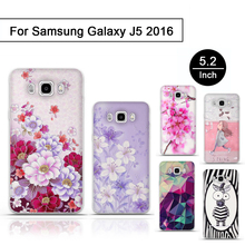 New Cute Cartoon Silicone Case For Samsung Galaxy J5 2016 J510 sm-j510f j510fn TPU Soft Back Cover Coque for Galaxy J5 2016 Case