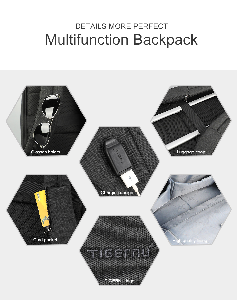 17 Multifunction Travel Backpack