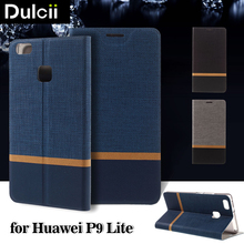 For Huawei P 9 Lite Leather Bag Luxury Business Cover Cross Texture Card Holder Stand Leather Phone Case for Huawei P9 Lite case