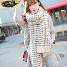 Women's Scarves New Winter Thickening Variegated Mohair Knit Warm Wool Female Scarf Students Couple Soft Comfortable Neckerchief
