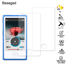Besegad 2PCS Ultra Thin 2.5D Anti-Scratch High Definition Tempered Glass Screen Protector Film for Apple iPod Nano 7 8 Gadgets(China)