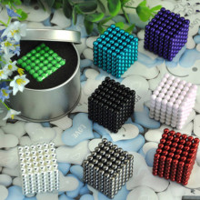 216pcs 5MM Magic Puzzle Cube Brain Teaser Game Sphere Neo Cube Barker balls blocks magic cube Adults toys metal Box+bag+card