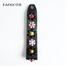 PACGOTH Leather Bag Handles Flower Pattern For Wallet Lagy's Purse Bag Part & Accessories 4 Colors Handles 17.2cm x 3.2cm, 1 PC