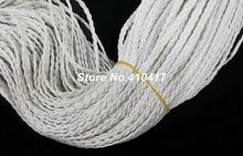 New Arrival 10yards/lot 5mm Width Flat Imitation Braided Leather Cord White Color For Jewelry Making Free Shipping