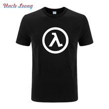 Half Life 3 logo printing T Shirt Men Cotton o-neck T-Shirt Mens Clothing With Short Sleeve Free Shipping plus size xs-xxl(China)