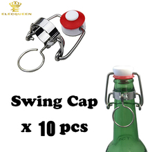 10pcs Recyclable Ceramic Swaying/Swing Top Beer Bottle Cap for Home Brew(China)