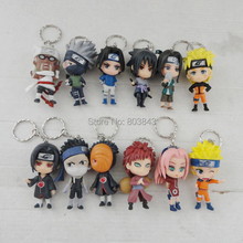Full Set Good PVC Anime Naruto Keychain Shippuden Sakura Kakashi Pendant Boys Girls Gift Toy Decoration 12pcs