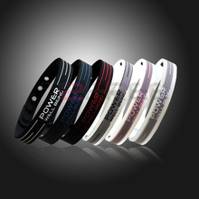 Power Ionics Basketball Silicone Band Wristband Bracelet Classic Style Sport Titanium 2000 ions Balance Healthy Body Color PT001