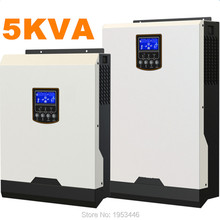 Cool ! Solar Inverter 5Kva 4000W Off Grid Inverter 48V to 220V 50A PWM Inverters Pure Sine Wave Hybrid Inverter 60A AC Charger