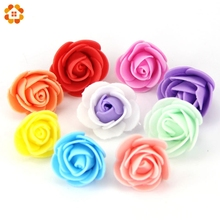 30PCS/Lot  Mini PE Foam Rose Artificial Flower Head For Home Wedding Decoration DIY Scrapbooking  Wreath Gift  Fake Flowers