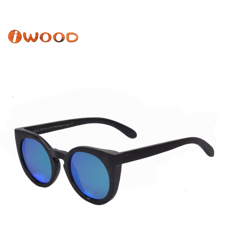 ZA45 2016 Fashion Style Painted Black brown bamboo Wood men Women Sunglasses<br><br>Aliexpress