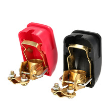 2PCS Auto Car 12V battery Terminal Connector Switch Quick Release Connectors Battery Quick Disconnect Terminals(China)