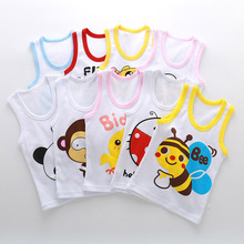 new arrived 2017 Free Shipping Sexy cotton Vest kids students character Clothes Underwear children boy girl 3pc/lot(China)