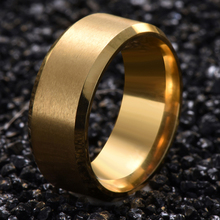 Titanium Steel Finger Ring Gold Color Ring for Men and Women Popular Jewelry Free Shipping Wedding Bridal Gift G10(China)
