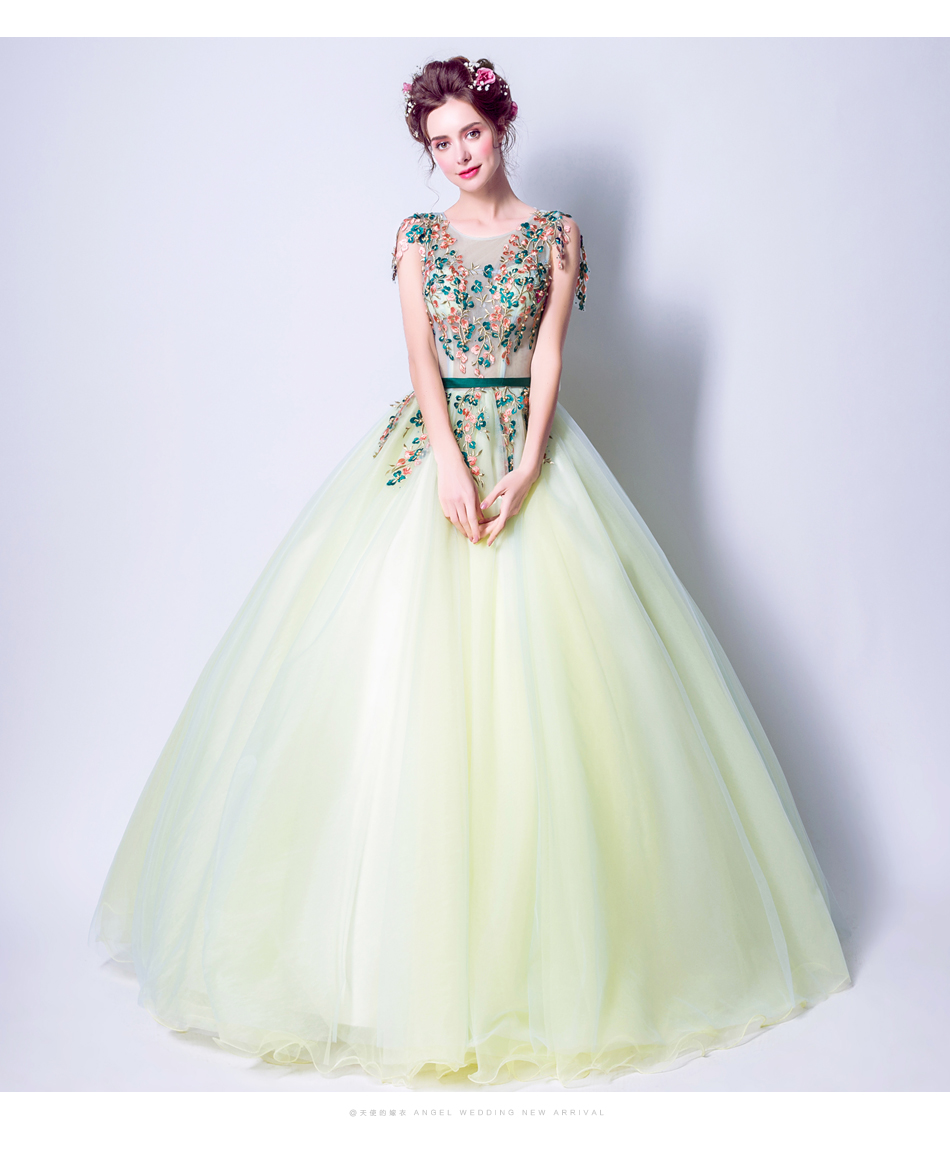Angel Wedding Dress Marriage Bride Bridal Gown Vestido De Noiva 2017 Green, embroidery, the wizard of Oz 2217 12
